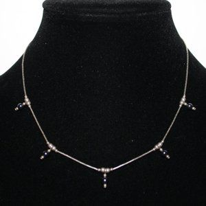 """.925 sterling silver and hematite necklace 16"""""""